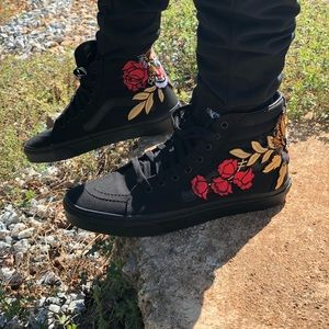 8876bdbf5f Vans Shoes - 🔥Custom Rose Tiger Embroidered Vans Sneakers